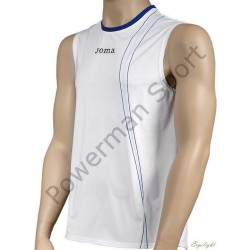 Koszulka tenisowa JOMA biało-niebieska
