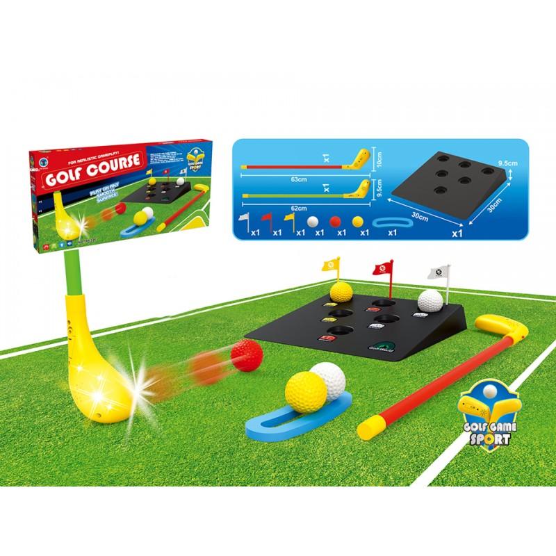 Gra golf kije piłeczki baza