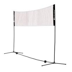 METEOR Słupki do badmintona wolnostojące regulowane z siatką