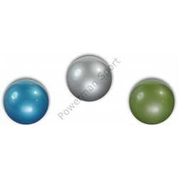 Piłka PVC gumowa gimnastyczna fitness 20cm metalizowana