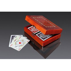 Karty PIATNIK Luxury w pudełku drewnianym 2804