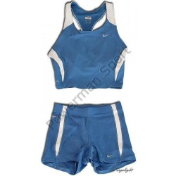 NIKE TEAM RACE strój lekkoatletyczny niebieski