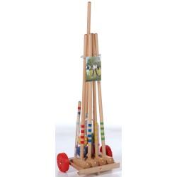 Krokiet gra - krykiet 4 os. z drewnianym wózkiem LONDERO