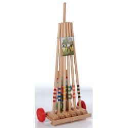 Krokiet gra - krykiet 6 os. z drewnianym wózkiem LONDERO