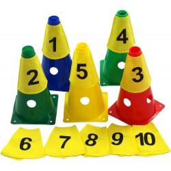 Znaczniki na pachołki numerowane (10szt.)