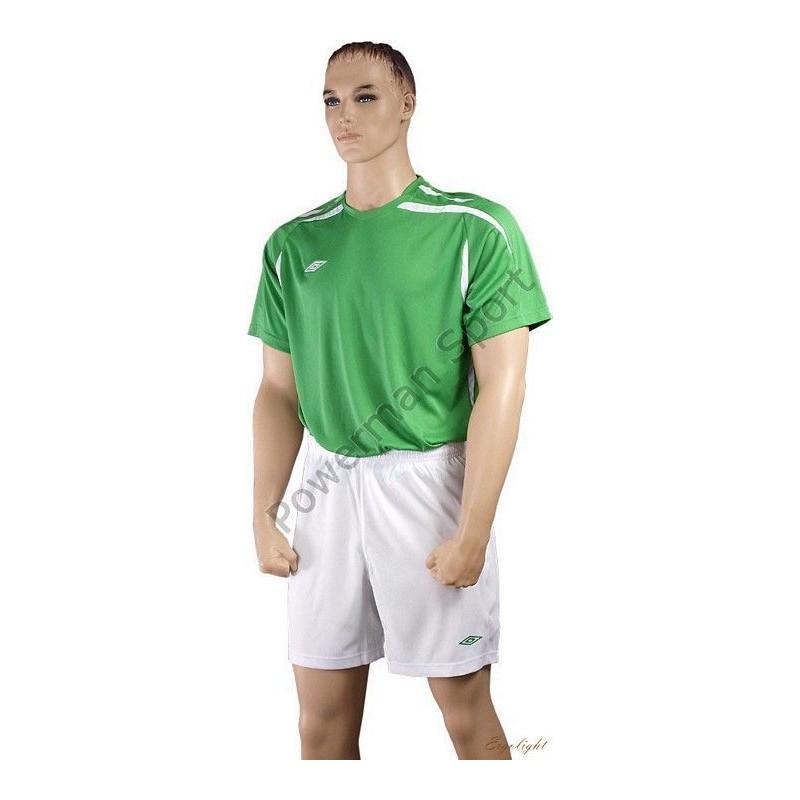 Strój piłkarski UMBRO WEMBLEY z getrami zielono-biały