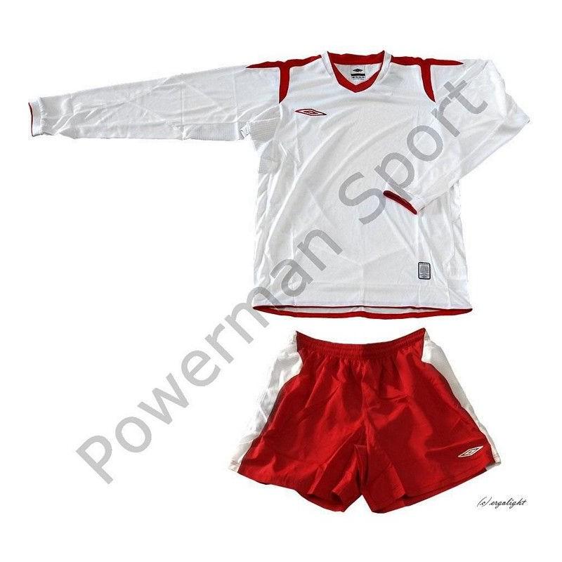 Strój piłkarski UMBRO CHAMPION biało-czerwony