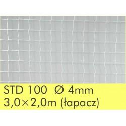 Siatki - łapacze 3x2m do bramki do p.ręcznej 2szt. - 4mm białe