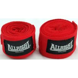Bandaż bokserski bawełniany ALLRIGHT - 4m (2 sztuki)