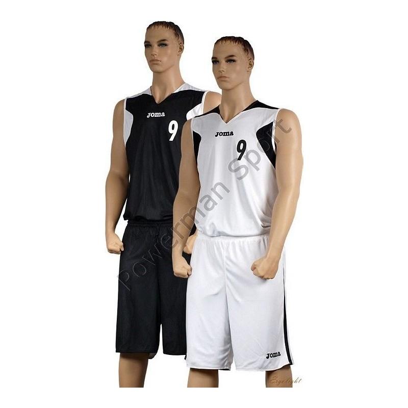 Strój koszykarski JOMA biało-czarny