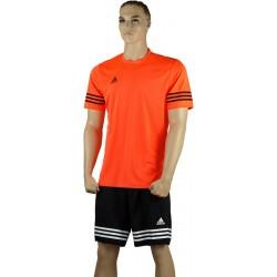 ADIDAS Strój piłkarski juniorski ENTRADA 14 pomarańczowo-czarny