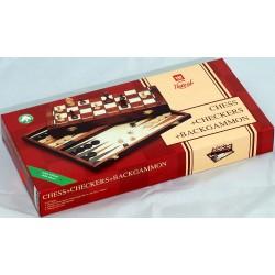 Szachy składane 41x41cm , warcaby, backgammon
