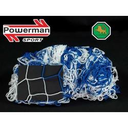 Siatka na bramkę do piłki nożnej 7,5x2,5x2x2 - 4mm bicolor EL LEON DE ORO