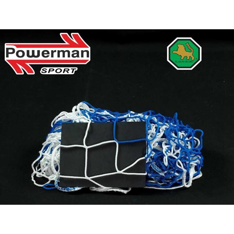 Siatka na bramkę do piłki nożnej-ręcznej 3x2x0,8x1 - 4mm bicolor EL LEON DE ORO