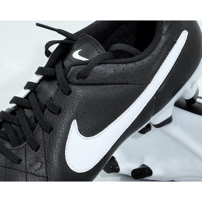 Buty piłkarskie NIKE TIEMPO GENIO LEATHER FG czarno białe