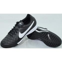 Buty piłkarskie NIKE TIEMPO GENIO LEATHER TF czarno-białe