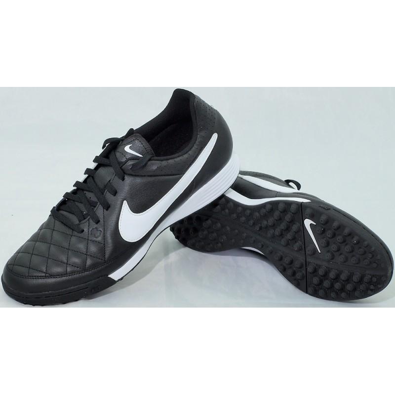 sneakers for cheap b512c 2e580 Buty piłkarskie NIKE TIEMPO GENIO LEATHER TF czarno-białe