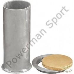 Tuleja aluminiowa do słupków owalnych 120x100mm