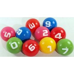 Piłki edukacyjne 20cm z cyframi  - pakiet 10szt.