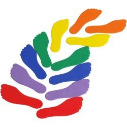 Znaczniki antypoślizgowe na podłogę stopy (6 par)