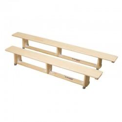 POLSPORT Ławka gimnastyczna 2,5m nogi drewniane
