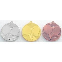 Medal tenis stołowy 7750 kpl 3szt. śr.50mm