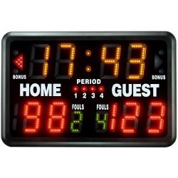 Tablica wyników elektroniczna VELLEMAN do koszykówki, siatkówki, tenisa - zegar, timer - przenośna