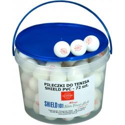 Piłeczki do tenisa stołowego SHIELD - 72szt. w pojemniku