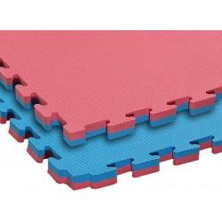 Mata treningowa puzzle 1m x 1m x 4cm CERTYFIKAT CE - dwustronna, dwukolorowa - do karate, judo, mma