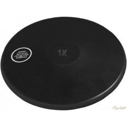 Dysk z twardej gumy czarny 1 kg DRB-100