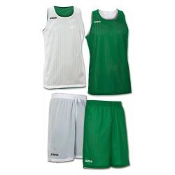 Strój koszykarski dwustronny JOMA Aro biało-zielony