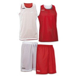 Strój koszykarski dwustronny JOMA Aro biało-czerwony
