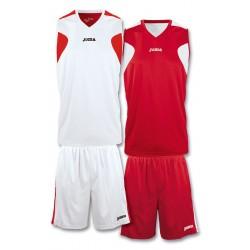 Strój koszykarski dwustronny JOMA 1184.003 biało-czerwony