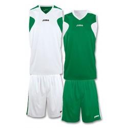 Strój koszykarski dwustronny JOMA 1184.452 biało-zielony