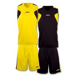 Strój koszykarski dwustronny JOMA 1184.901 żółto-czarny
