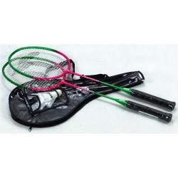 Komplet do badmintona TELOON TL020 - 2 rakiety + 3 lotki