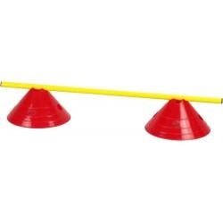 Zestaw treningowy płotek - 2 pachołki + poprzeczka czer-żół