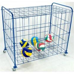 Wózek zamykany na piłki na kółkach