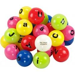 Piłki edukacyjne Edubalki Alfabetki 20cm z literami - pakiet 33szt.