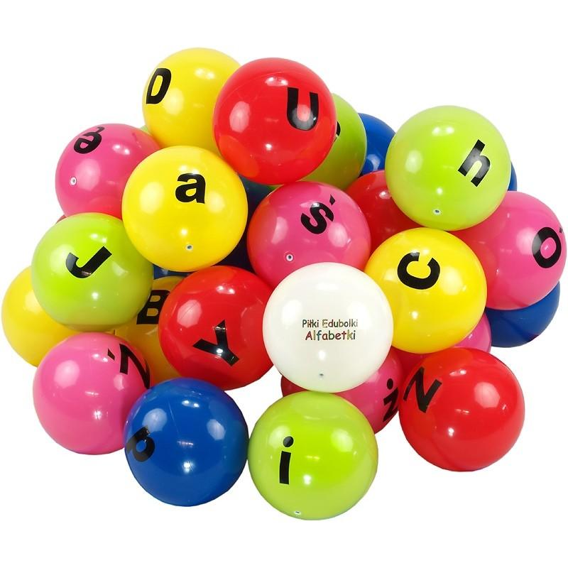 8aca0e409 Piłki edukacyjne Edubalki Alfabetki 20cm z literami - pakiet 33szt ...