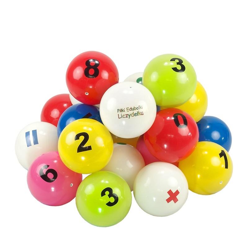 3c4d00272 Piłki edukacyjne Edubalki Liczydełka 20cm z cyframi - pakiet 21szt ...
