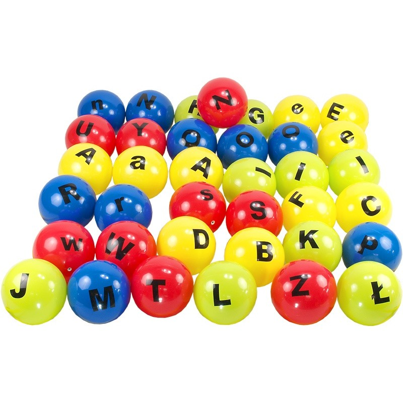 Piłki edukacyjne Edubalki Alfabetki 20cm Aneks - pakiet 37szt.