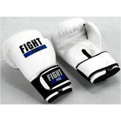 Rękawice bokserskie FIGHT PRO BASIC białe