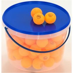 Piłeczki do tenisa stołowego BLUE SHIELD żółte - 72szt. w pojemniku