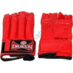 DRAGON Rękawice do worka skórzane czerwone