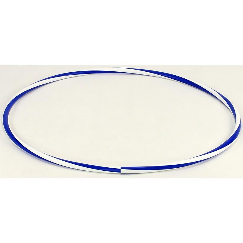 Hula-hop zgrzewane 75cm biało-niebieskie