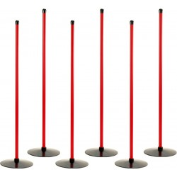 Tyczki treningowe 100cm z podstawą - 6 szt.