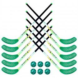 Zestaw do unihokeja UNIBROS Fiber 100cm (10 kijów + 6 piłek)