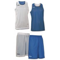 Strój koszykarski dwustronny JOMA Aro biało-niebieski